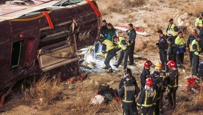 Confirman el exceso de velocidad como causa del accidente de autobús