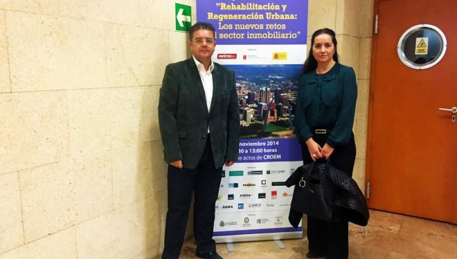 Marta Pérez y Juan Antonio Moreno participan en las Jornadas de Rehabilitación y Urbanismo