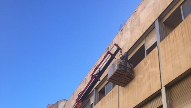 Pruebas para determinar la capacidad de la estructura del edificio del Centro de Salud nº 1