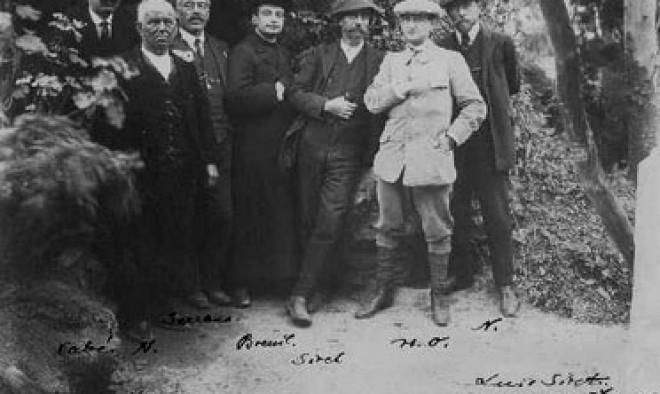 Henri Breuil (4i), Louis Siret (5i), Hugo Obermaier (6i) en 1912.