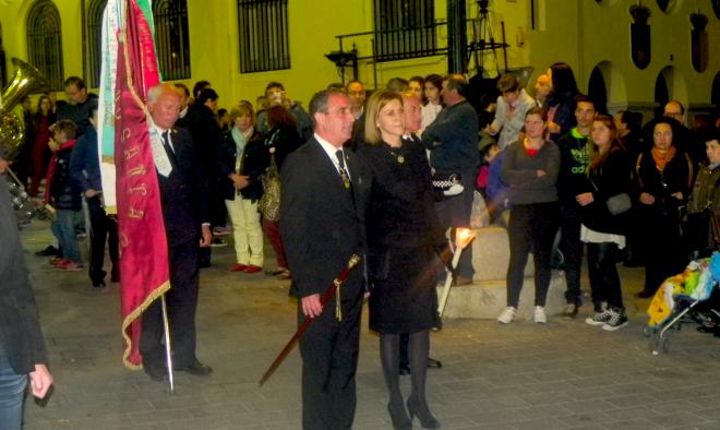 Maria Dolores de Cospedal acompañada por Manuel Mínguez