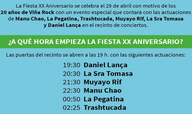 Fiesta XX Aniversario Viñarock