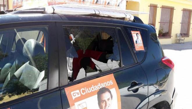 Agresión electoral a Cuidadanos Hellín en el Barrio del Calvario