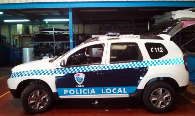 NUevo coche de la Policía Local de Hellín.