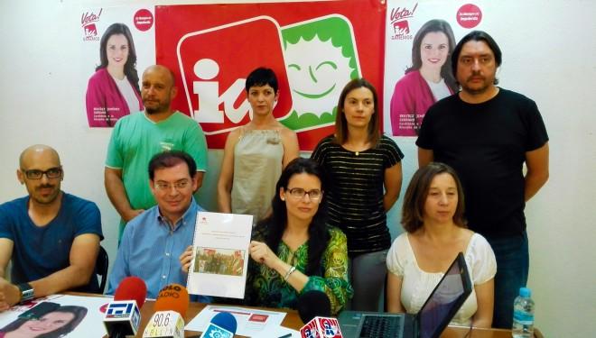 Beatriz Jiménez, presenta el programa de Izquierda Unida-Ganemos