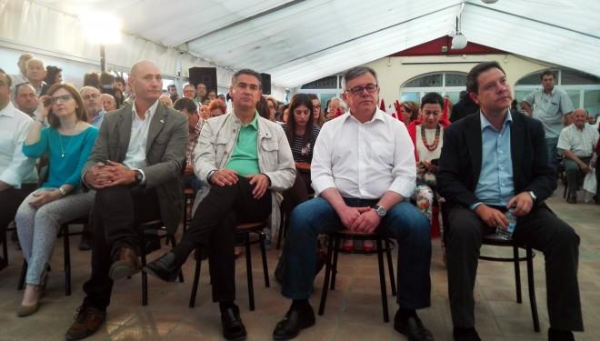 Cierre de campaña del PSOE con la presencia de Emiliano García-Page