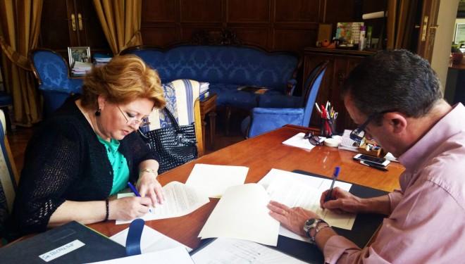 La Diputación de Albacete y el CV Juventud Hellín firman un convenio de colaboración
