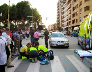 Grave accidente en la Gran Vía