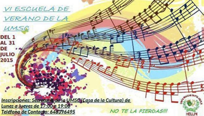 La Unión Musical Santa Cecilia de Hellín lanza una nueva edición de su ya tradicional escuela de verano