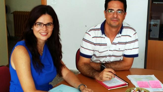 Beatriz Jiménez se reúne con los responsables de los institutos Justo Millán y Melchor de Macanaz