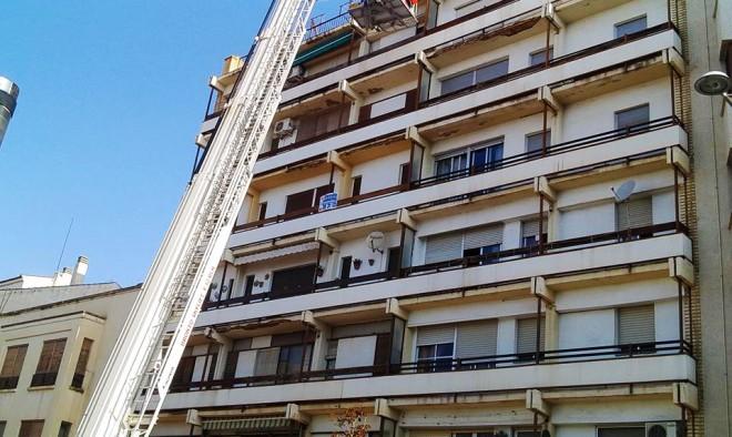 Edificio del suceso / Foto Rafa Castillo