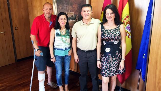 Reunión con el director provincial de Educación, Cultura y Deporte, Diego Pérez
