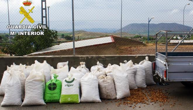 Tres personas detenidas por el robo de 5 toneladas de almendra en Liétor