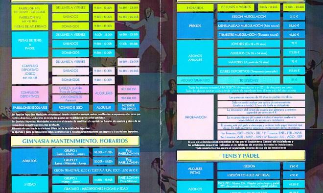 Programa actividades deportivas