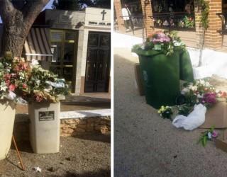 El Grupo del PP denuncian el mal estado en que se encuentran los contenedores del Cementerio