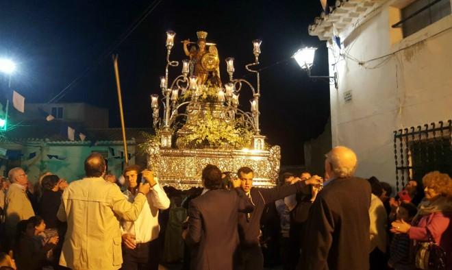 Procesión del traslado de la imagen de San Rafael a su ermita