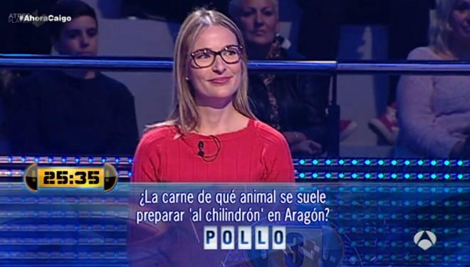 """Una hellinera gana 7.500 euros en el concurso """"Ahora caigo"""""""