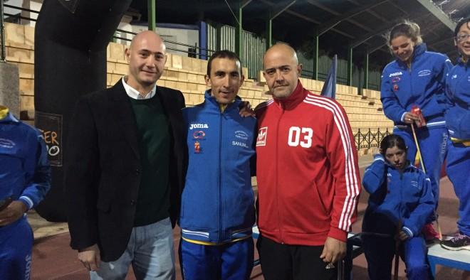 Morote con Francisco López y Ramón Lara