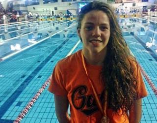 Nerea Ibáñez ya está en Colombia como integrante de la Selección Española de natación