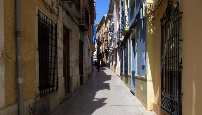 Obras en la calle Sol con el fin de eliminar el adoquinado