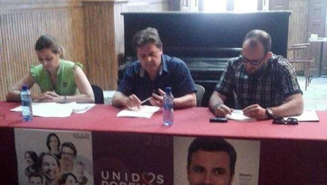 Acto conjunto del Círculo Podemos Hellín e Izquierda Unida