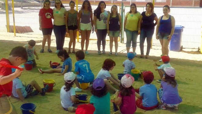La Ludoteca de verano en plena actividad con 70 niños matriculados