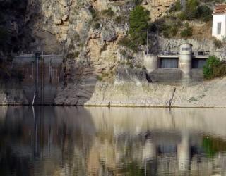 Una avería provoca una importante pérdida de agua en el embalse de Camarillas