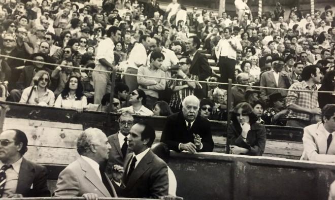 Feria de Hellín de 1977. Vista de la Plaza de Toros de Hellín a la finalización del festejo taurino (Foto Cano)