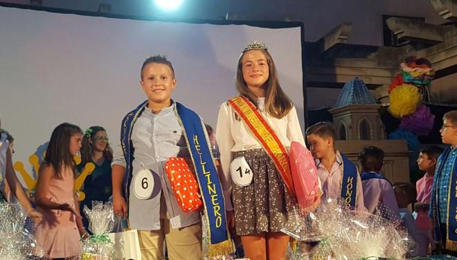 Oscar Sánchez y Manuela García elegidos Hellineros de Honor infantiles