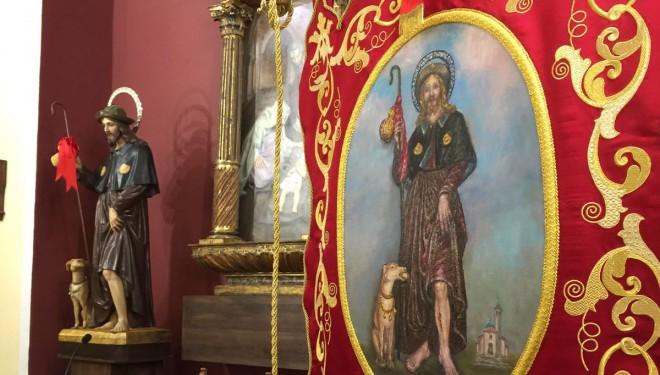Nuevo estandarte para la Parroquia de San Roque diseñado por las monjas Claras
