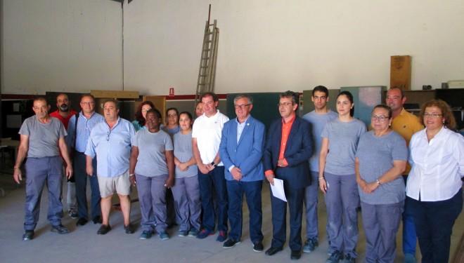 El director general de Formación, Trabajo y Seguridad Laboral visita el Centro de Formación Profesional Municipal