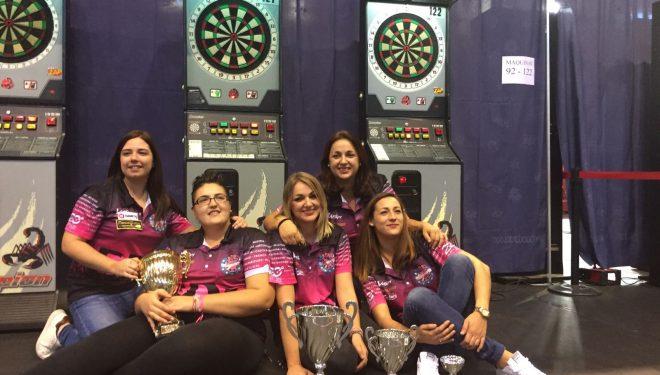 Almudena Fajardo triple medallista en el Campeonato de España de dardos electrónicos