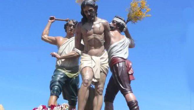 El grupo escultórico  de Los Azotes será el motivo del cartel de la Semana Santa de 2018