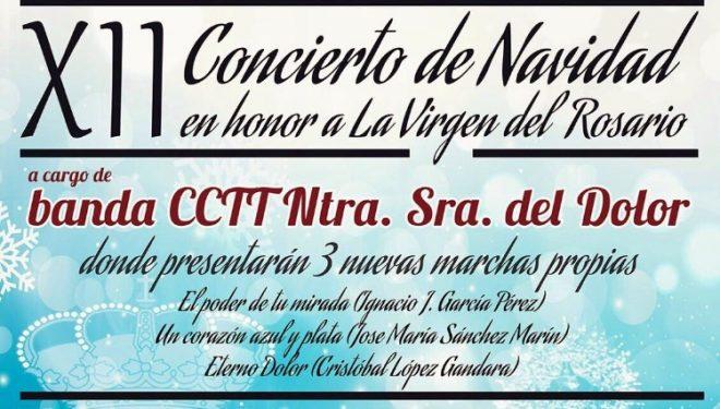 Concierto de Navidad organizado por la Banda de Cornetas y Tambores de la Cofradía de la Virgen del Dolor