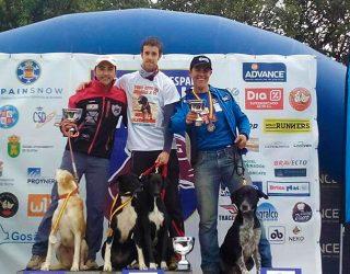 Tomás Ruiz medalla de plata en el Campeonato de España de Mushing celebrado en Ólvega (Soria)
