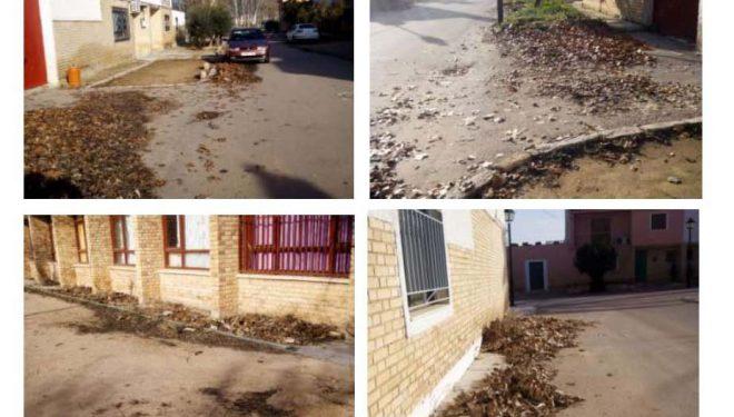 Los vecinos de Nava de Campaña protestan por la situación de suciedad que vive la pedanía