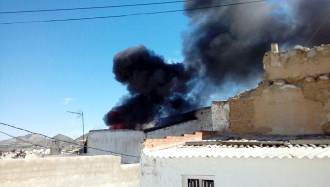 Incendio en el barrio de San Rafael