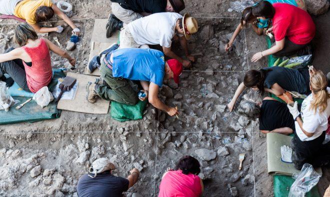 Excavaciones en Pico Tienda.