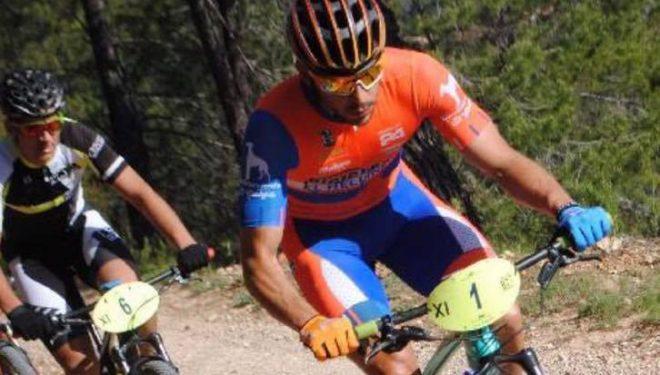 Alberto López, cuarto en la etapa del Circuito Provincial de BTT