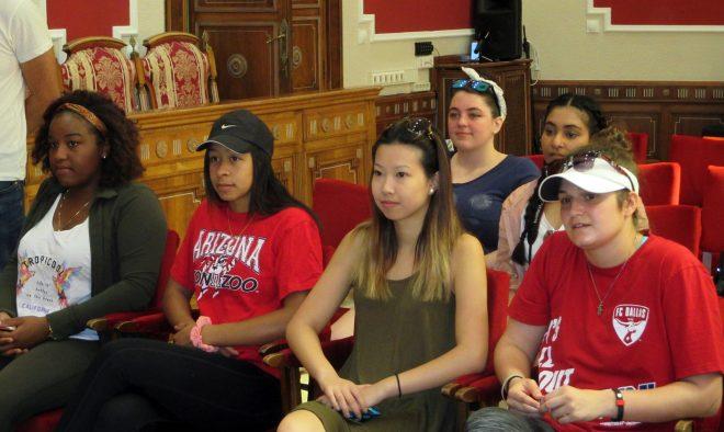 Grupo de estudiantes norteamericanos / EFDH.