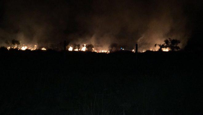 Incendio en el Camino de las Columnas cerca del convento de las Clarisas