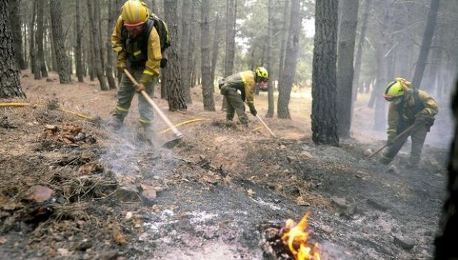 Intoxicados varios bomberos forestales de Geacam, que trabajaban en el incendio de Yeste, tras comer bocadillos en mal estado
