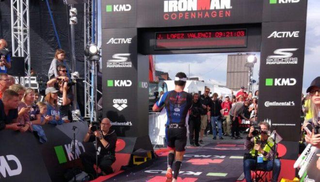 Buena actuación del corredor Javier López Valenciano en el Iron Man de Copenhague