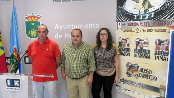 Octavio Chacón, Morenito de Aranda, Rubén Pinar y el novillero Diego Carretero, cartel de la corrida mixta de Hellín