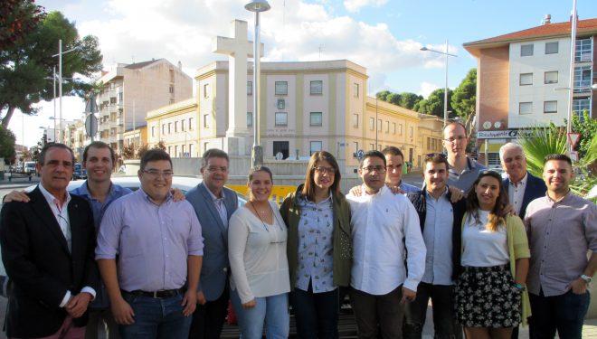 Visita electoral de Marta Maroto, como candidata a la presidencia regional de Nuevas Generaciones del PP