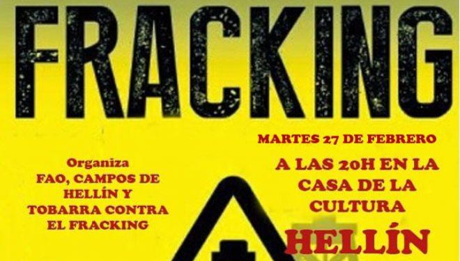 Charla informativa organizada por la Plataforma Cuenca del Segura contra el FRACKING