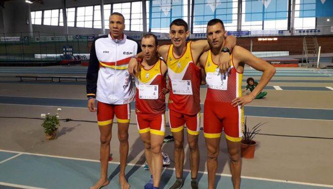 El Hellínero Martinez Morote campeón del mundo con la selección española de Atletismo en el Mundial de pista cubierta INAS en Francia