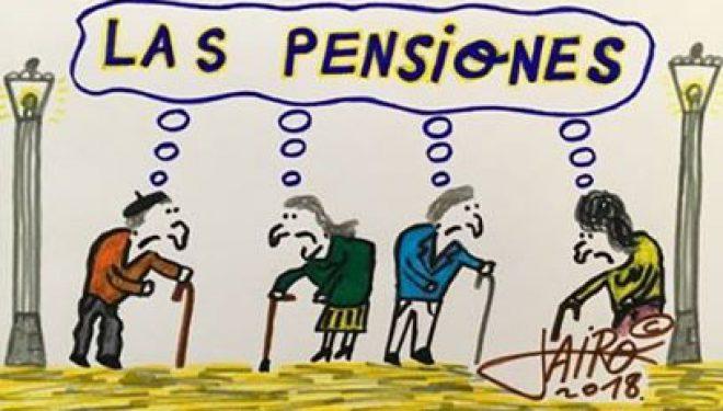 Viñeta El Faro de Hellín, Las pensiones