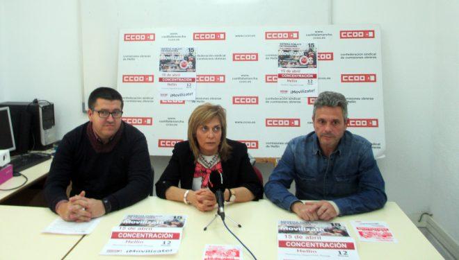 UGT y CC 00 convocan una nueva movilización para el próximo domingo