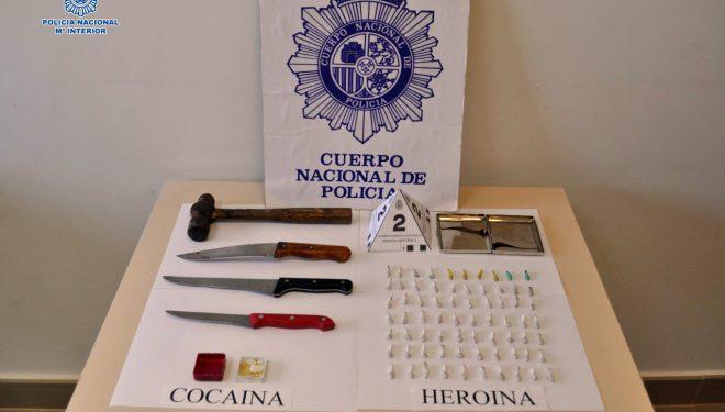 Un detenido como presunto autor de un delito de tráfico de drogas y otro de lesiones graves